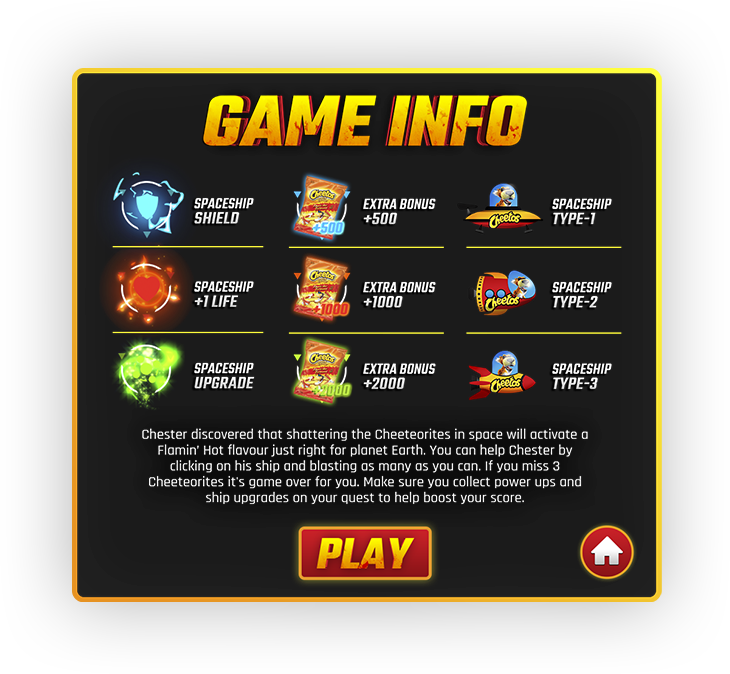 Screen with game info