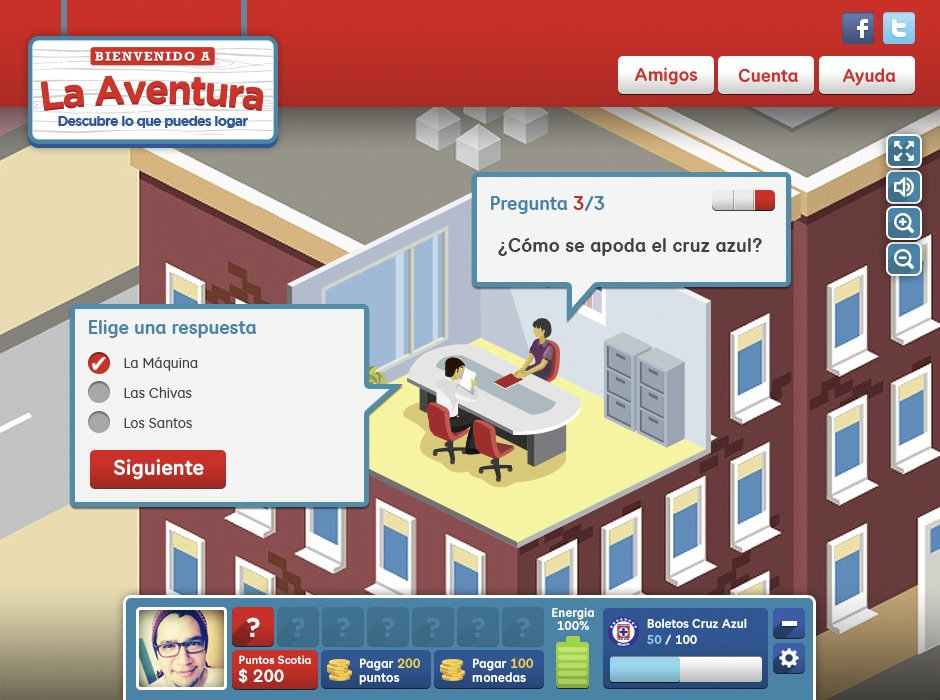 La Aventura: Desktop screenshot 1, quiz example