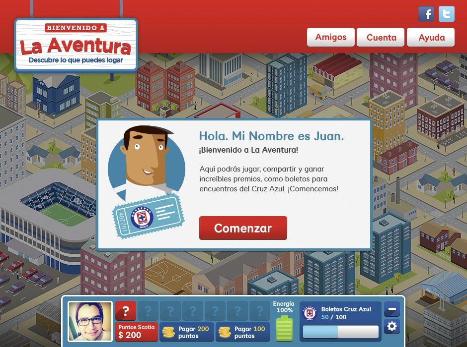 La Aventura: Desktop screenshot 2, landing page